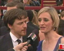 James McAvoy and Anne-Marie Duff, looking trippy dude