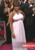 Help!  Jennifer Hudson is being strangled by her dress!