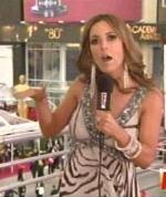 Jillian Barberie Reynolds is boring in zebra with weird earrings