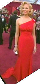 Katherin Heigl in the long red dress