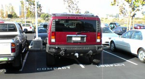 Rampant socialopathy - Hummer parked by jerk!