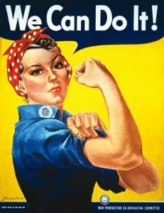 Riveter? Check.  Cure cancer? Check.  Housewife? Check.