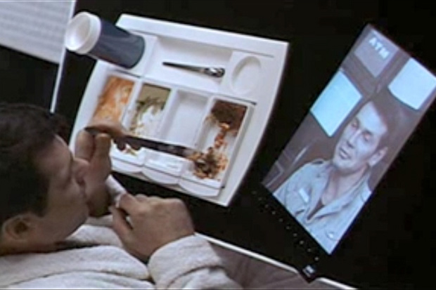 "Flat screen display in the movie ""2001 A Space Odyssey"""