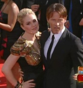 Anna Paquin and Steven Moyer at the Emmys 2010