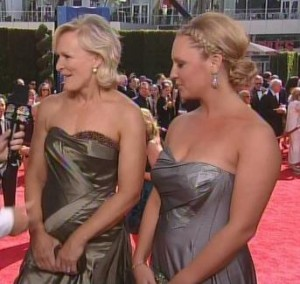 Glenn Close and daughter Annie in Rubin Singer at 2010 Emmys