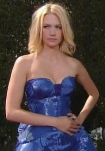 January Jones Versace 2010 Emmys