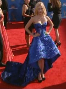 January Jones Versace Emmys 2010