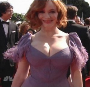 Christina Hendricks from Mad Men at the 2010 Emmys