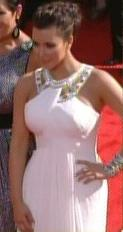 Kim Kardashian Grecian Column Dress Emmys 2010